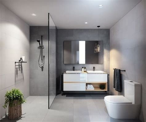 17 best ideas about grey modern bathrooms on