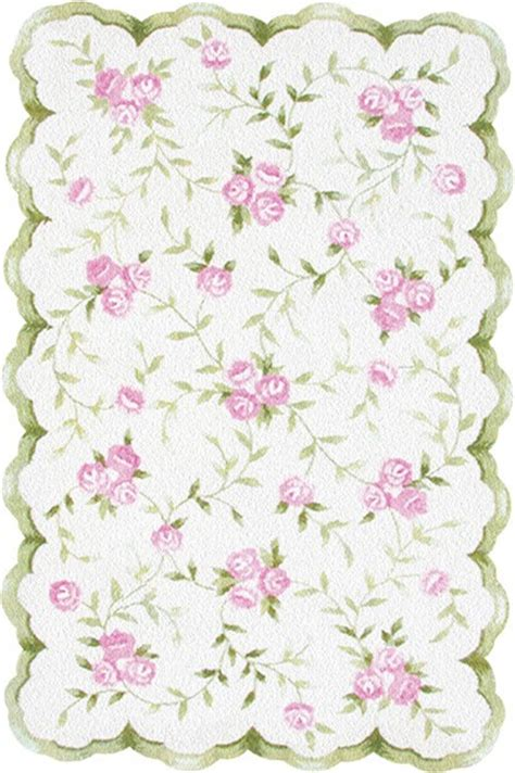 Green And Pink Rug by Rug Market Floral 31033 Sweet Pink Green Area Rug