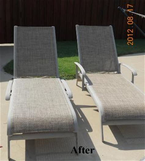 sling chair fabric replacement agio chaise replacement slings using our chesterfield
