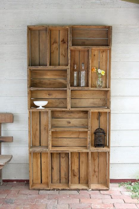 apple crate bookshelves living