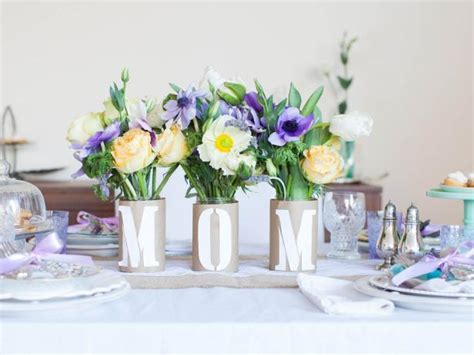 Bathroom Decorations Kids Craft Quot Mom Quot Centerpiece For Mother S Day Hgtv