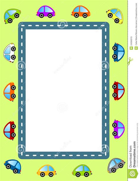 cars and road frame royalty free stock photo image 24369315