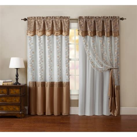 curtain backing maggie embroidered curtain panel with double attached