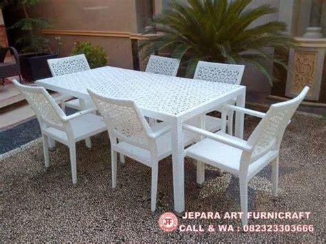 Meja Makan Kursi 4 Rotan Sintetis dijual harga murah meja rotan sintetis 6 kursi matahari