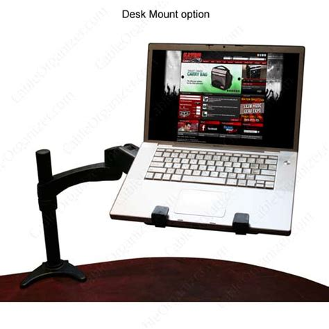 Laptop Desk Mount Gator Cases Articulating Laptop Tablet And Vesa Monitor Desk Wall Mount