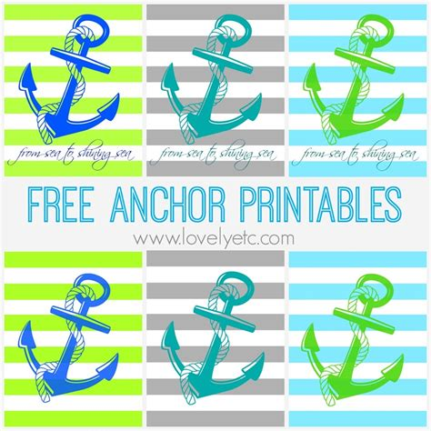 free anchor printables