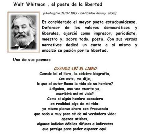 biografia de whitman walt vida de whitman walt historia concurso walt whitman cronopios
