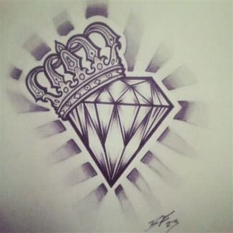 diamond with wings tattoo designs and wing design