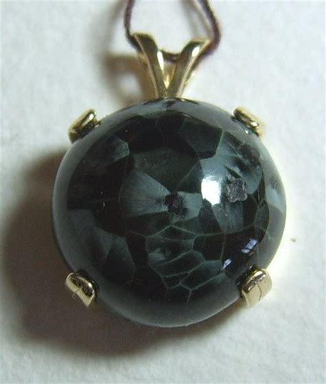 greenstone chlorastrolite 14 kt gold pendant jewelry mi sold