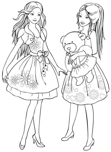 раскраски для девочек девочки Fashionable Coloring Pages 2