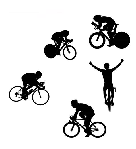 Clip Sepeda Bmx Black free cycling vector silhouettes www vectorfantasy