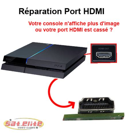 reparation ps4 hdmi sat elite