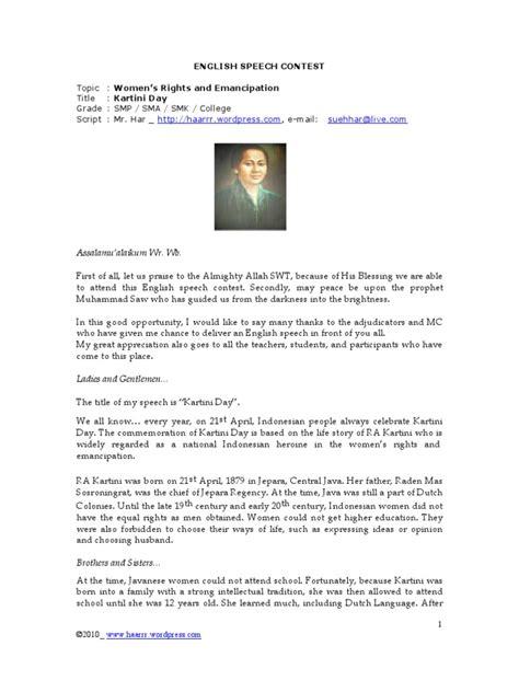 biography kartini in english english speech kartini day critical theory