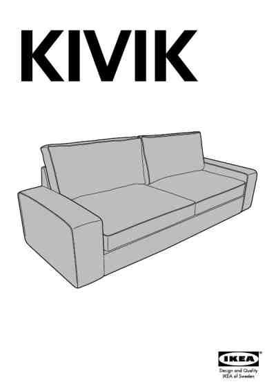 Ikea Kivik Sofa Bed Furniture Download User Guide For Free Ikea Sofa Bed Manual