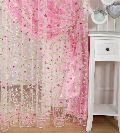 lorient decor curtain fabric free shippin leave design sheer curtain fabric home in