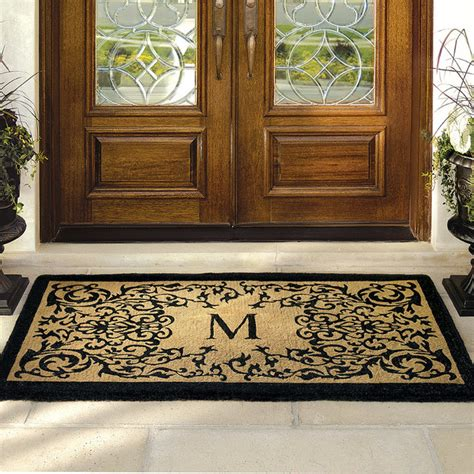 72 Front Door Mat Courtyard Coco Monogrammed Door Mat 36 Quot X 72