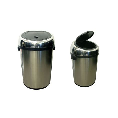 Kitchen Trash Can Sizes by Commercial Size Stainless Steel Automatic Trash Can By