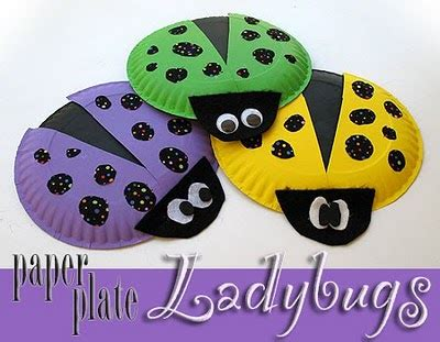 Paper Plate Ladybug Craft - paper plate bugs crafts by amanda