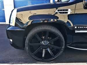 Cadillac Escalade 26 Inch Rims Sell Used Cadillac Escalade Ext Blacked Out With 26 Inch