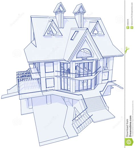 houses blueprints modern house blueprint stock vector image of concept 6360246