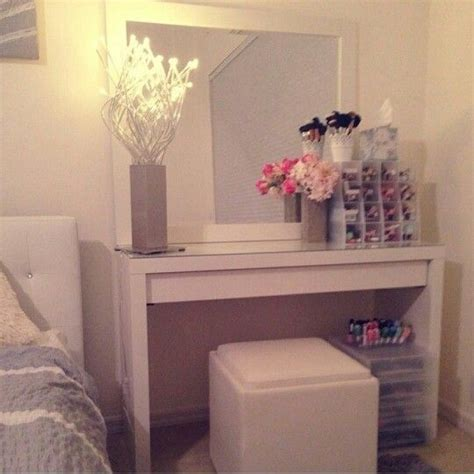 Makeup Vanity Table Ikea Ikea Malm Vanity My Makeup Vanity Pinterest Make Up Storage Vanities And Dressing Tables