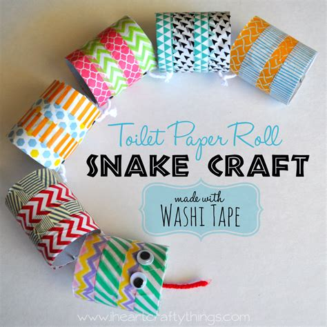 Paper Craft Things - cardboard roll snake craft i crafty things