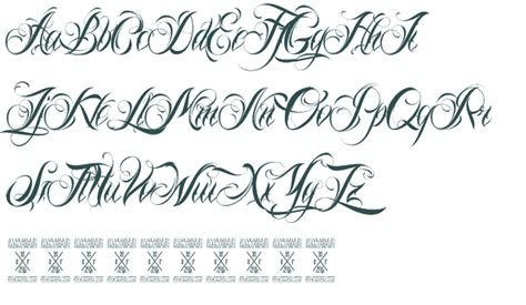 Tattoo Script Alphabet Fonts | fancy script fonts for tattoos free 5455297 171 top tattoos