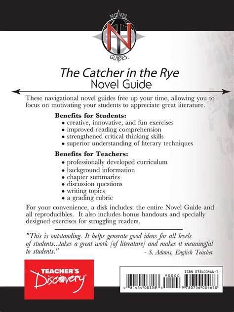 tracking theme catcher in the rye the catcher in the rye novel guide book english teacher