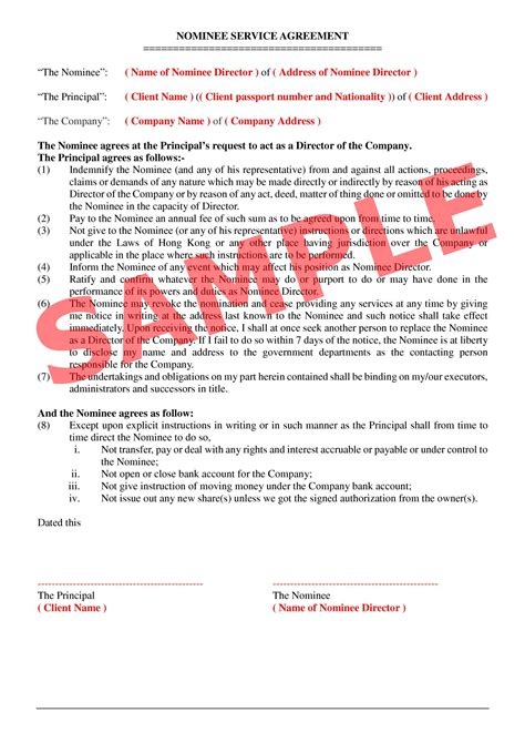 Directory Download Company Hk Nominee Nominee Agreement Template