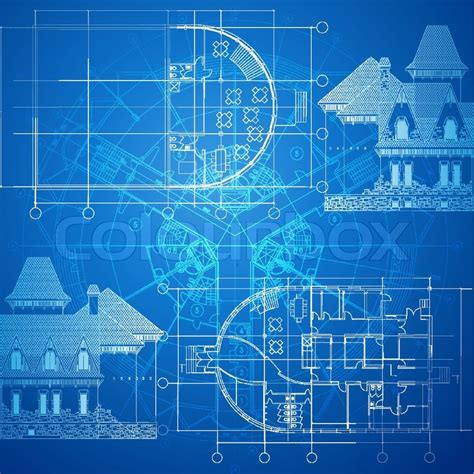 design blueprint urban blueprint vector architectural background part of architectural project architectural