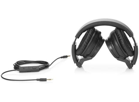 Headset Hp hp h3100 black foldable headphones with microphone hp store uk