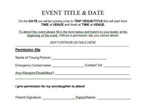 Scout Permission Slip Template by 35 Permission Slip Templates Field Trip Forms
