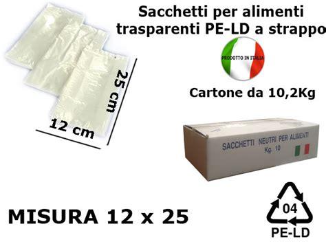 sacchetti di plastica per alimenti sacchetti per alimenti ld a strappo 12x25cm traspar