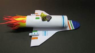 how to make space kids crafts how to make a paper rocket at home how to