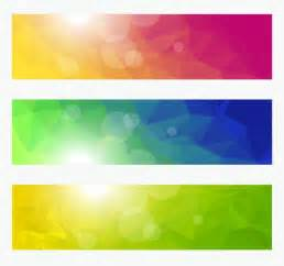 colorful banner vector banners with colorful polygonal background free