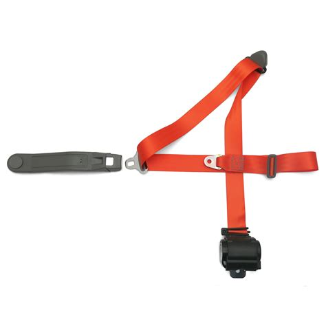 three point seat belts for classic cars 3 point orange retractable seat belt car vintage auto