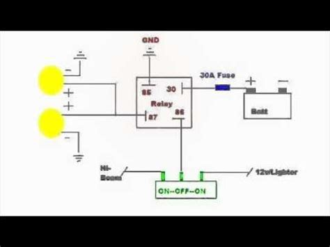 auxiliary lighting wiring diagram youtube