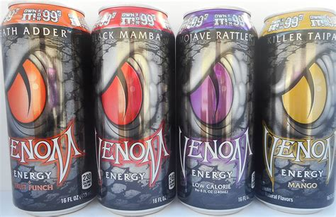 venom energy drink 8 oz venom energy drink black mamba 16 oz 24 cans
