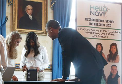 Hello Nevy by Middle Schoolers Invent App With Obama S Seal Of Approval
