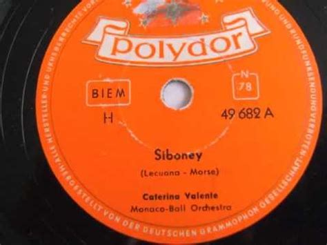 caterina valente siboney siboney caterina valente 1953 youtube