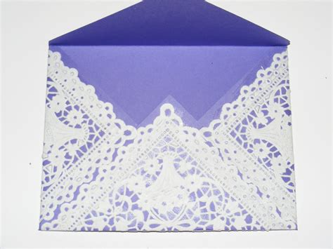 How To Make Paper Doily Envelopes - poppyscabin paper lace doily envelope
