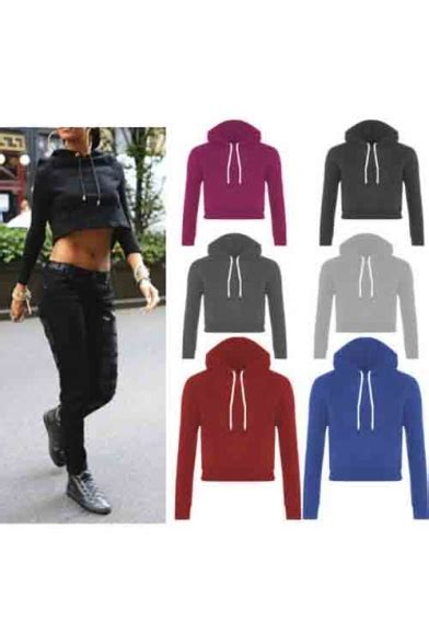 Plain Cropped Hoodie s plain hooded cropped hoodies beautifulhalo