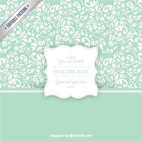 Ornamental pattern with wedding invitation label Vector