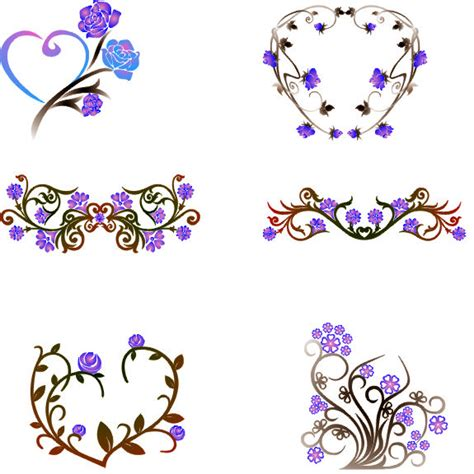 Wedges N Bunga Flower Floral 1 free floral borders cliparts co