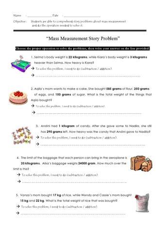 mass word problems teaching ideas