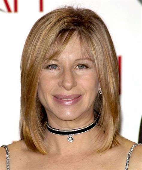 barbara streisand hair barbra streisand medium straight formal hairstyle