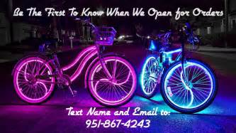 Bicycle Led Lights Coolest Glowing Beach Cruisers Glow Candy Bike Lights