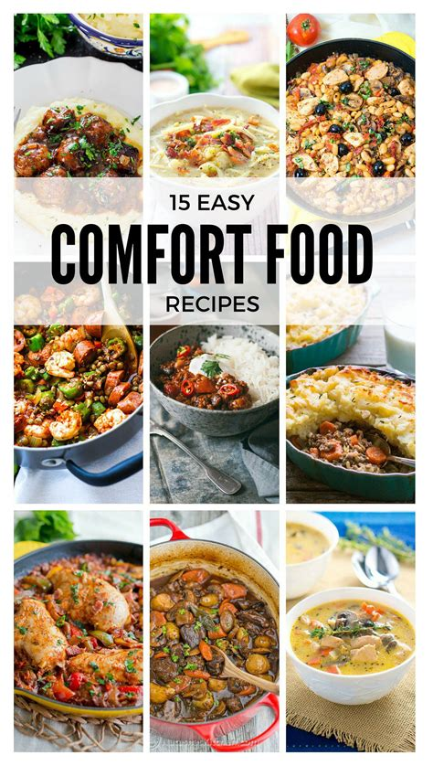 comfort meals 15 easy comfort food recipes delicious meets healthy