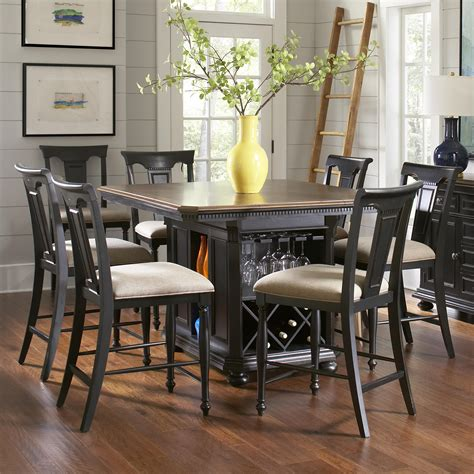 kitchen island dining avalon furniture rivington traditional 7 kitchen island counter table set brick
