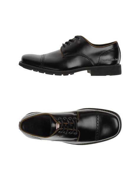 calvin klein laced shoes in black for lyst
